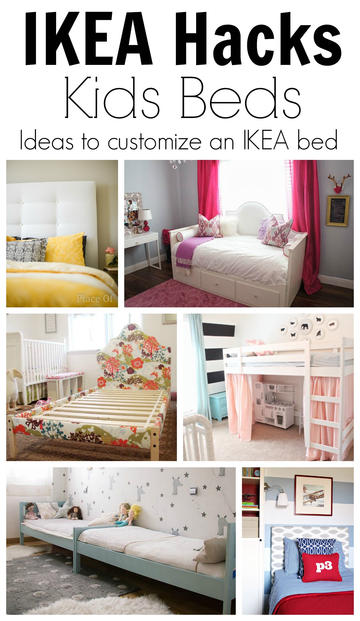 ikea hack ideas to customize kids beds. Black Bedroom Furniture Sets. Home Design Ideas