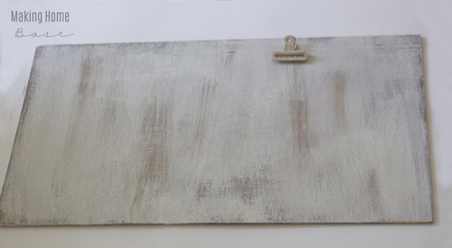 salvage wood photo clipboard