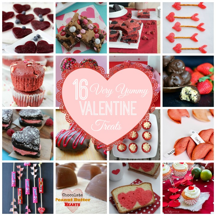 16 Very Yummy Valentine Treats via createcraftlove.com #features #linkparty #recipes #desserts #valentinesday