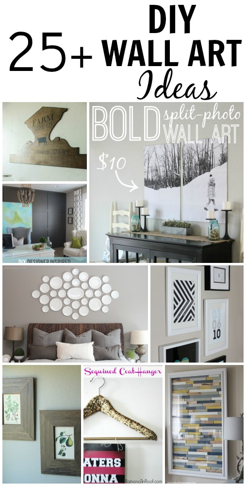 25 beautiful and inspiring diy wall art ideas for Diy wall decor projects