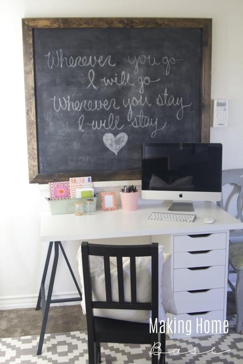 Budget Friendly Workspace via Making Home Base