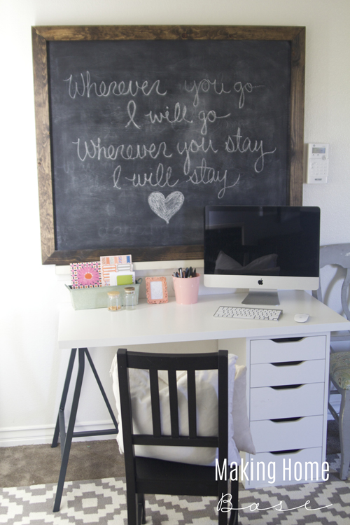 Create A Custom Chalkboard to Hide Eyesores. Awesome Idea for Renters!! via www.makinghomebase.com