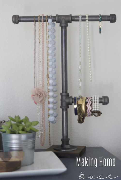DIY Industrial Jewelry Organizer