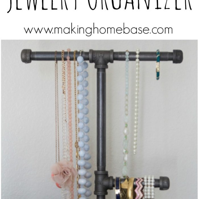 DIY Industrial Pipe Jewelry Organizer