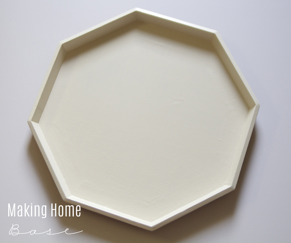 Painted Octagon Tray