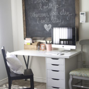 Small and Functional IKEA Desk Workspace on a Budget via Making Home Base