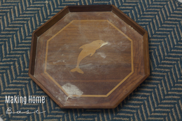 Thrift Store Find Turned Chic Octagon Tray