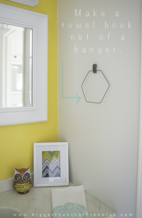 Use-an-old-wire-to-make-a-hexagon-towel-ring-by-Bigger-Than-The-Three-of-Us