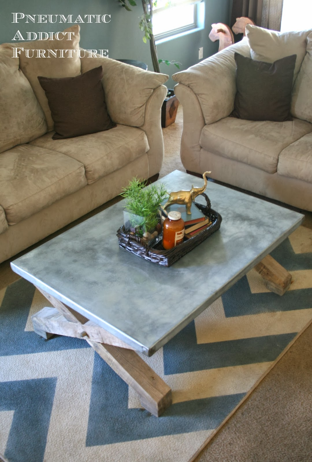 Zinc Top Coffee Table2