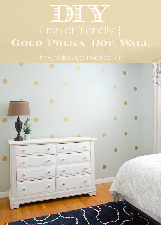 diy-gold-polka-dot-wall-graphic