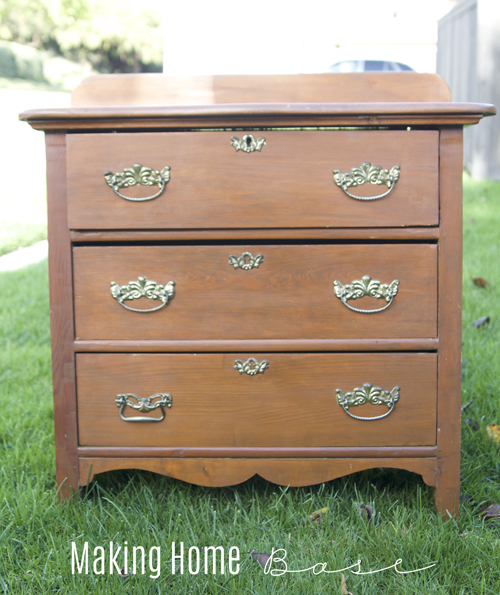 two toned night stand before
