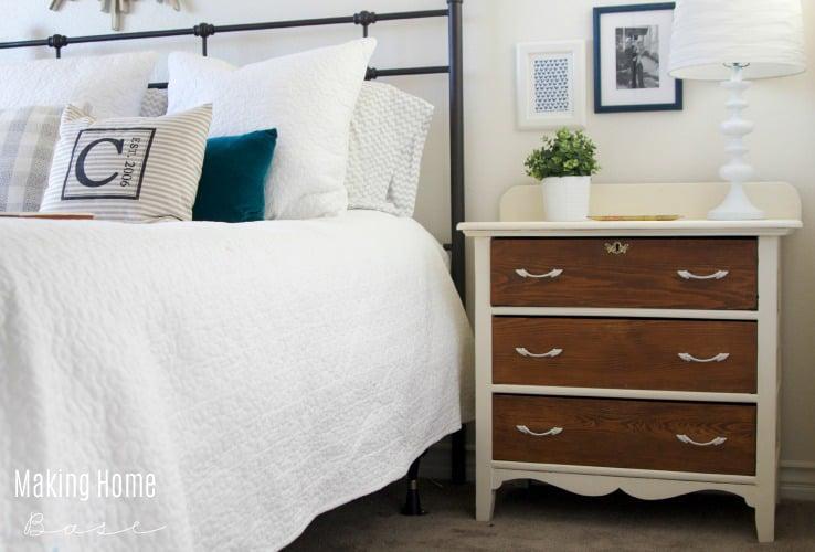 two toned nightstand