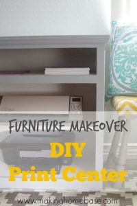 Furniture Makeover: DIY Print Center