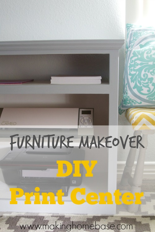 Furniture Makeover – Print Center from a Media Cabinet