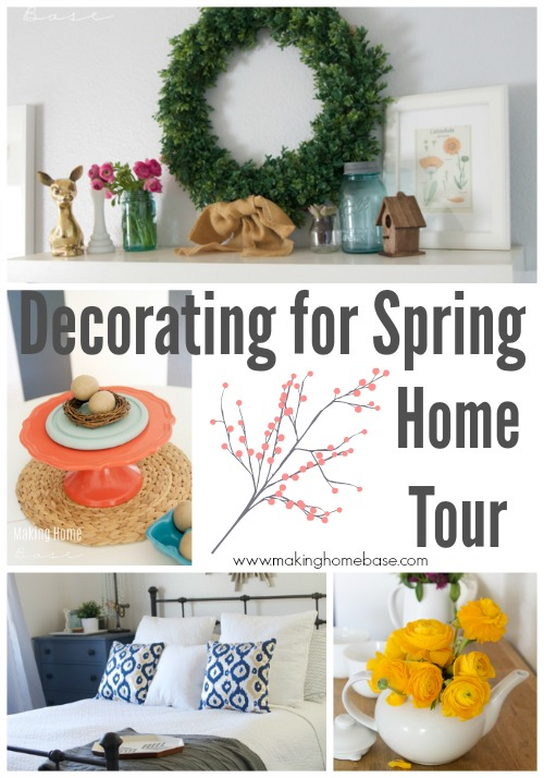 Decorating for spring home tour