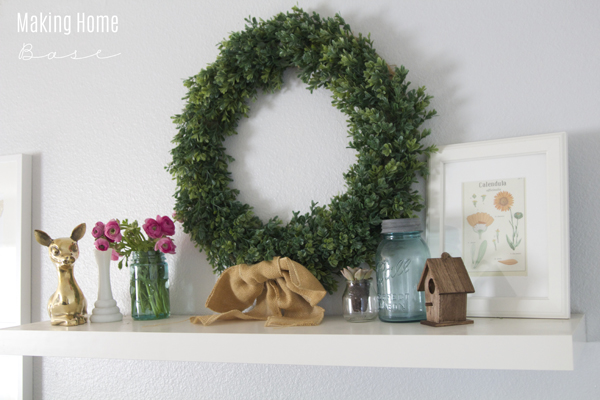 Spring Fresh Mantel
