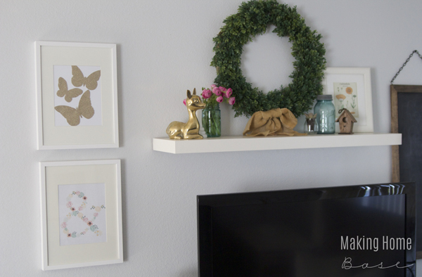 Spring Home Tour Mantel