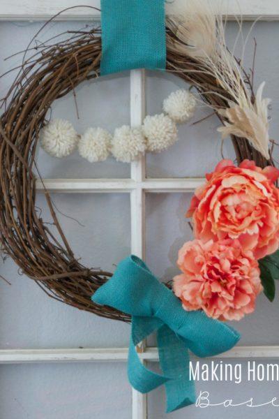 Spring Wreath via Making Home Base
