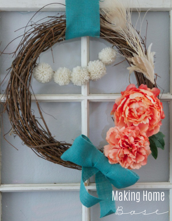 Spring Wreath via Making Home Base