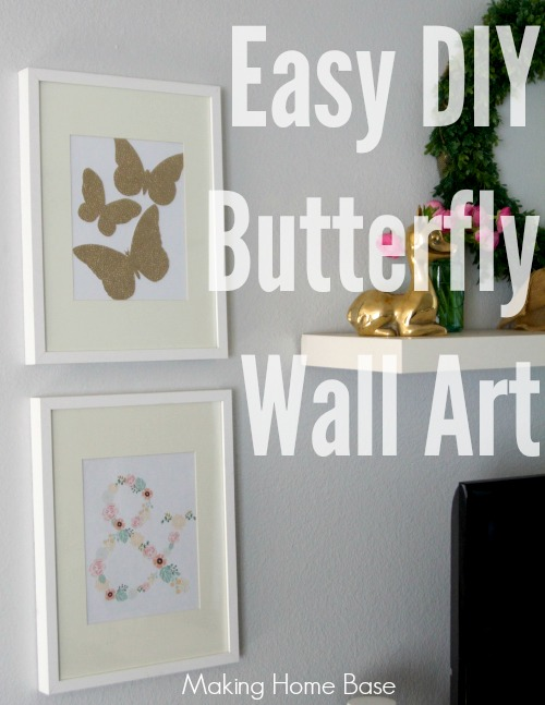 Easy diy wall art for spring making home base Simple wall art
