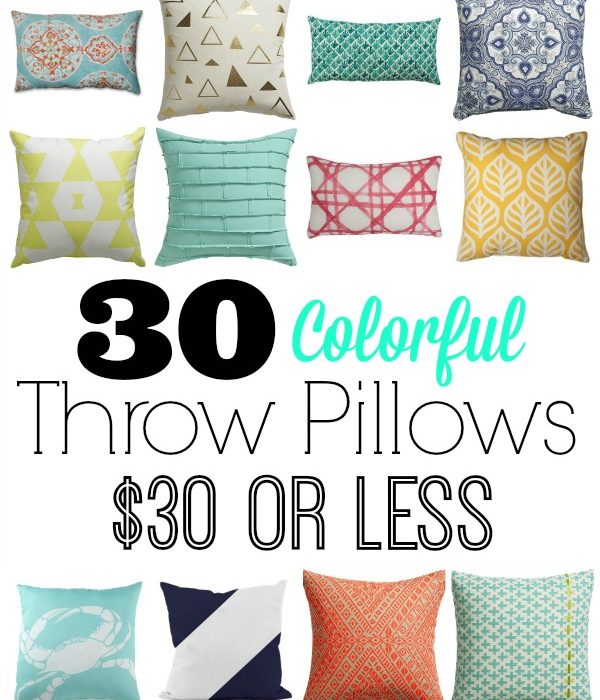 30 Colorful Pillows for 30 Dollars or Less