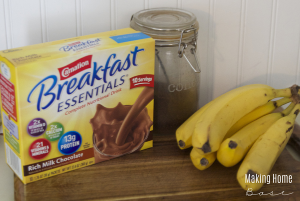 breakfast essentials mocha banana smoothie