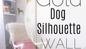 Gold Dog Silhouette Wall with Walls Need Love