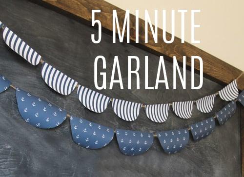 Summer Garland in 5 minutes