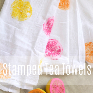 Stamped Tea Towel