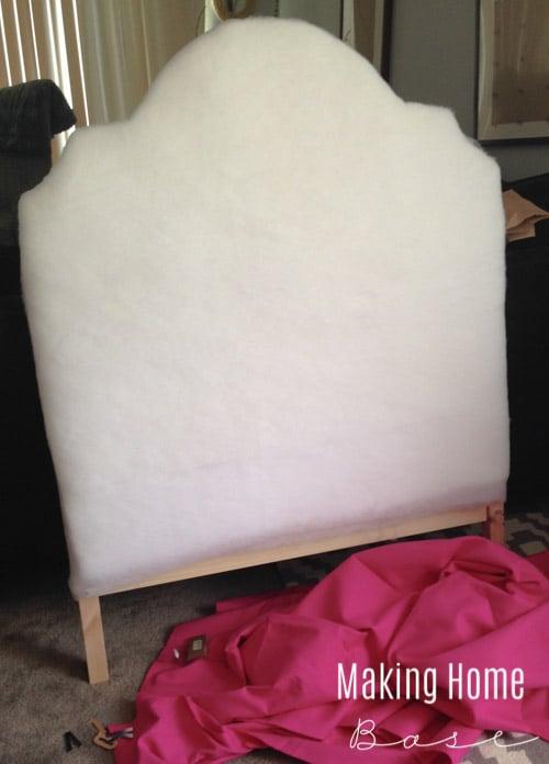 DIY Upholstered Headboard from IKEA Tarva Bed
