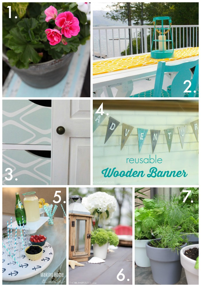 Repurposed Summer Planters via housebyhoff.com