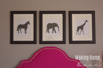 DIY wall art and polka dot mats