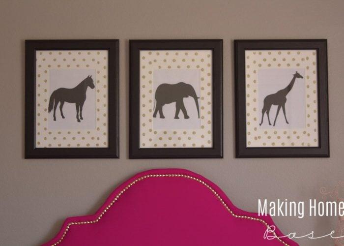 DIY Wall Art Animal Prints – Kids Room Wall Art Idea