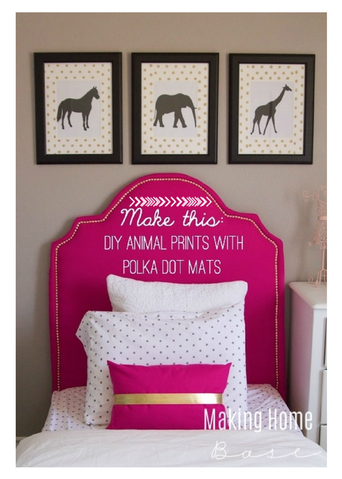 DIY Wall Art Animal Prints