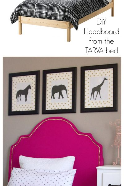 DIY Upholstered Headboard an IKEA bed Hack