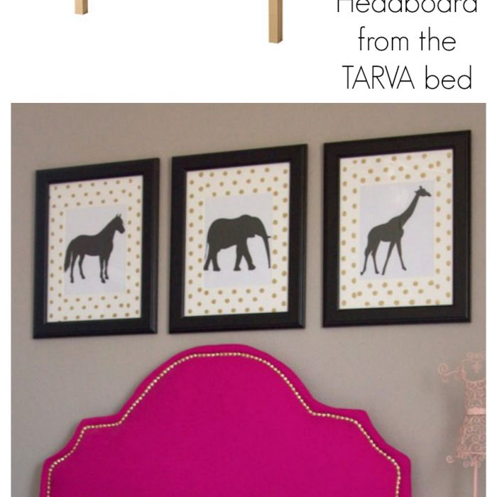 IKEA HACK – DIY Upholstered Headboard from the IKEA TARVA bed