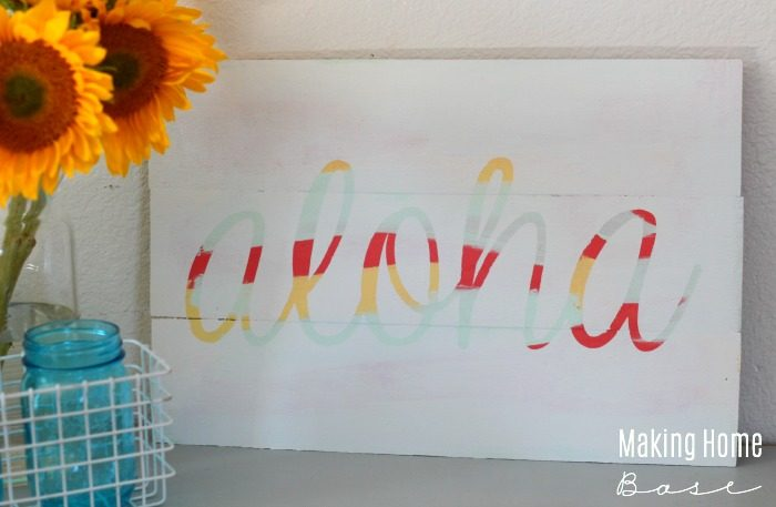 DIY Hand Painted Wood Sign