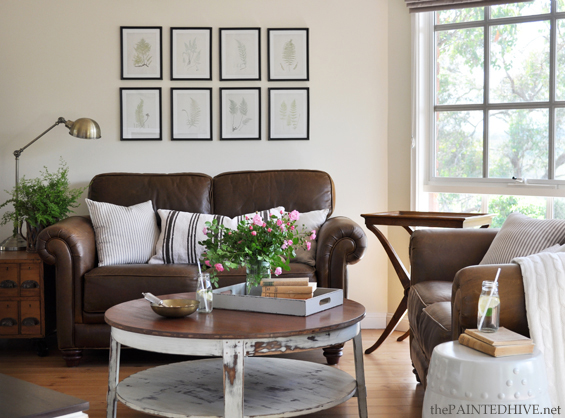 Beautiful Decorating, Living With, And Loving, A Brown Sofa