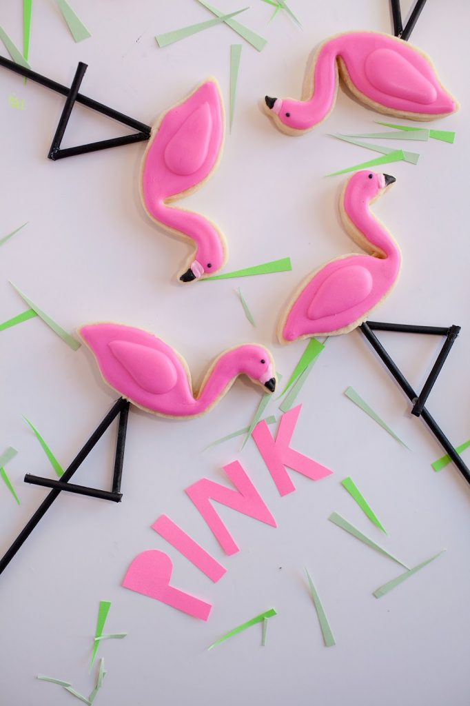 DIY Flamingo Cookies