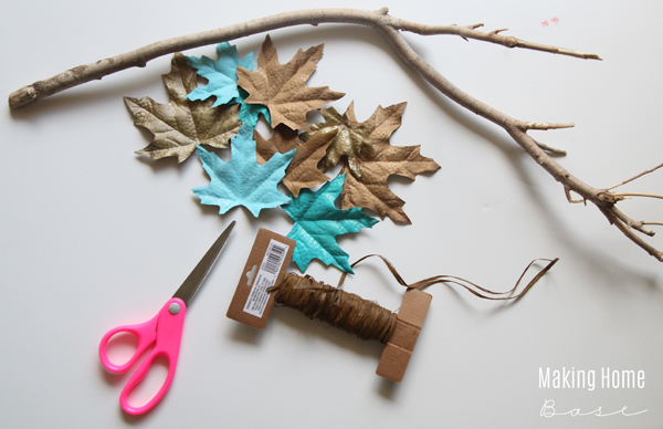 Painted Leaves in non-traditional colors is the chicest fall craft to step up your fall decorations this year