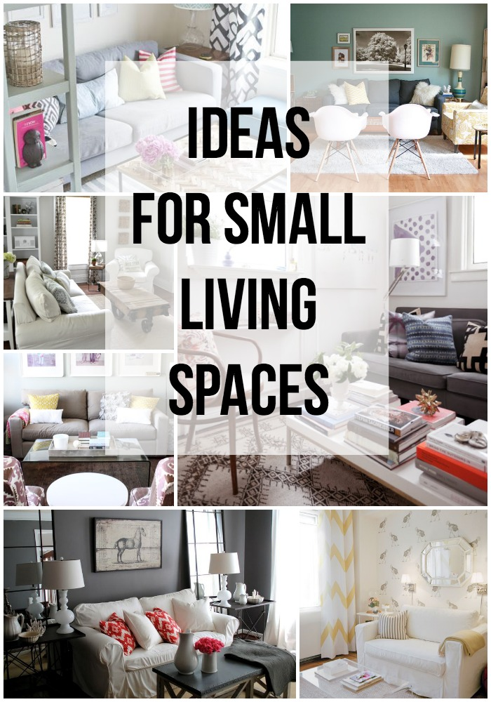 Ideas for small living spaces for Home decor ideas for small apartments