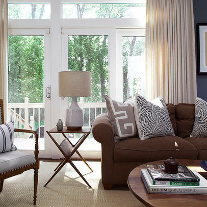 Decorating with a brown sofa for Brown furniture living room ideas