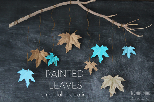 Painted Leaves are the perfect fall craft to step up your fall decorations this year