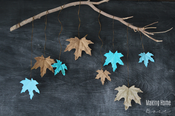 Fall Decorating with Painted Leaves