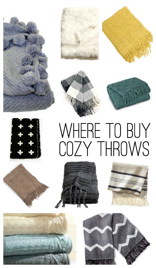 where to buy throw blankets