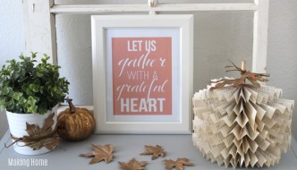Fall Decorating, a Vignette + a Printable