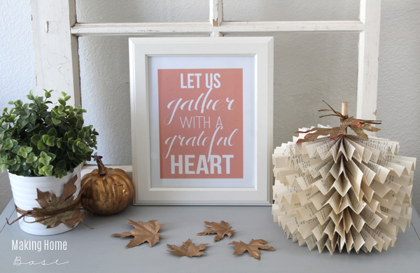 fall vignette with printable