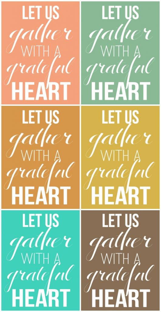 let us gather with a grateful heart