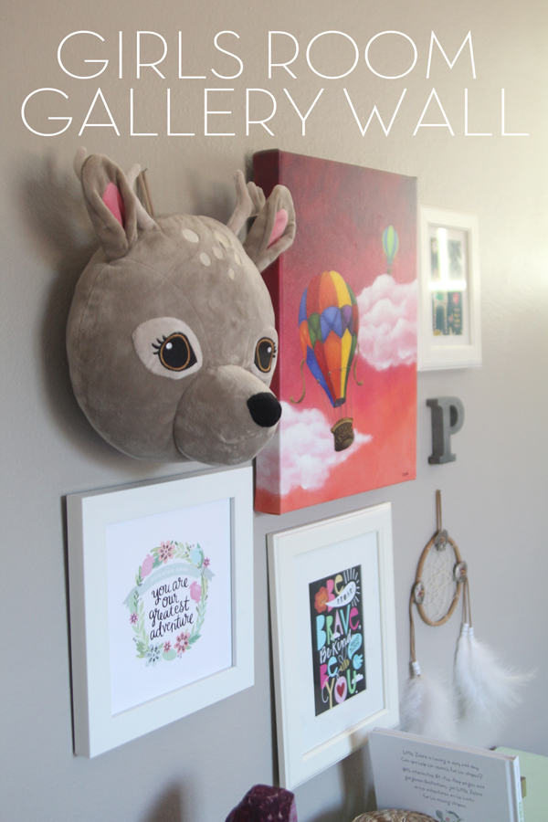 Girls Room Gallery Wall via Making Home Base