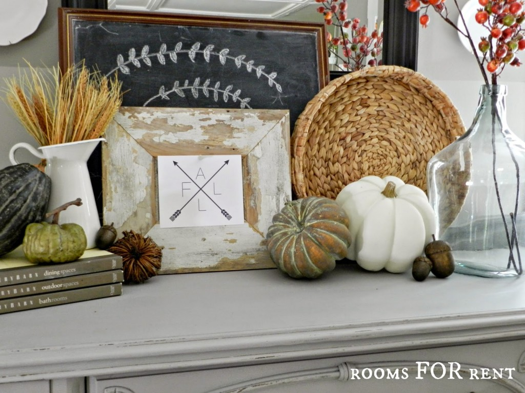 fall compass arrow, white pumpkin